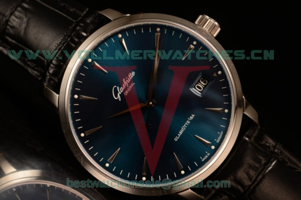 Glashutte Original Senator Excellence Panoramadatum Japanese Miyota 9015 Auto Blue Dial With Steel Case 1-36-03-04-02-30 (ZF)