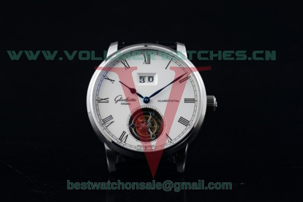 Glashutte Senator Meissen Tourbillon Swiss Tourbillon Auto White Dial with Steel Case 94-03-04-04-03