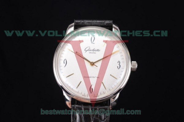 Glashutte Senator Sixties Miyota 9015 Auto White Dial With Steel Case 39-52-01-02-04(AAAF)