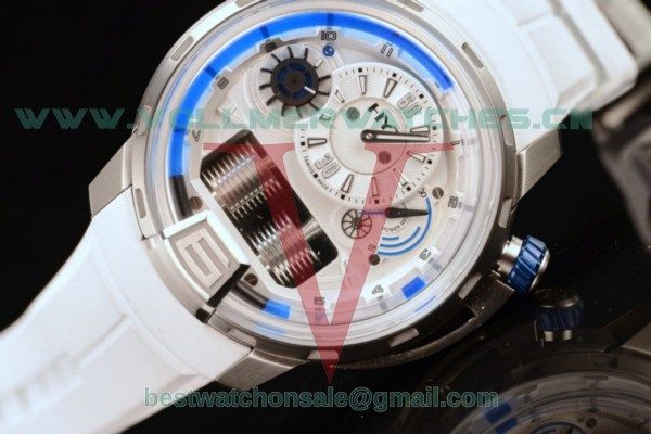 HYT H1 Iceberg Clone HYT Cal.101 Manual Winding White Dial with Steel 148-TT-11-BF-RW