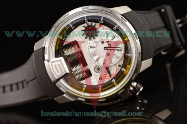 HYT H1 Titanium Clone HYT Cal.101 Manual Winding White Dial with Steel 148-TT-11-GF-RU