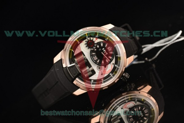 HYT H1 Clone HYT Cal.101 Manual Winding White Dial With Rose Gold Case 148-DG-22-GF-RU