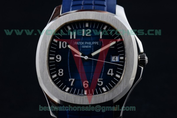 1:1 Patek Philippe Aquanaut Jumbo Miyota 9015 Auto Blue Dial with Steel Case 5168G (BP)
