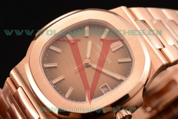 1:1 Patek Philippe Nautilus Miyota 9015 Automatic Brown Dial with Rose Gold Case 5711/1R-001