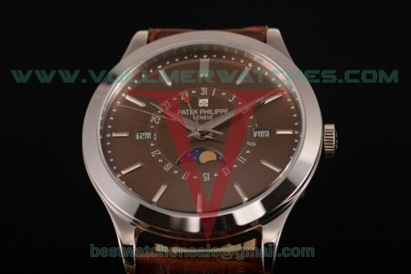 Patek Philippe Grand Complications Perpetual Calendar Miyota Quartz Brown Dial with Steel Case 5397 brw
