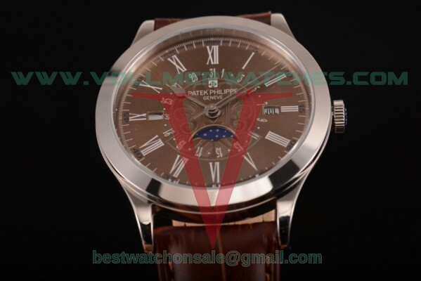 Patek Philippe Grand Complications Perpetual Calendar Miyota Quartz Brown Dial with Steel Case 5399 brw