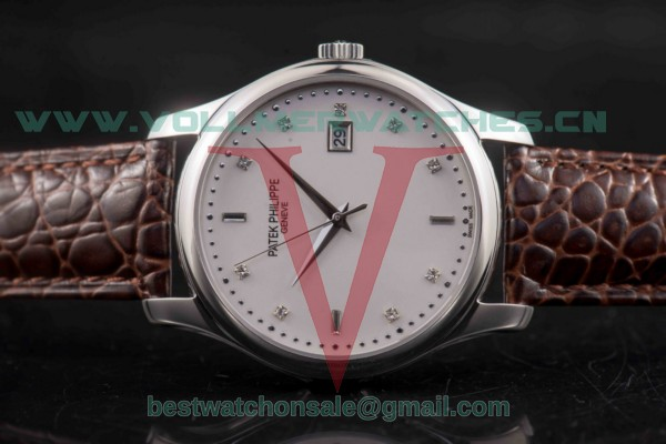 Patek Philippe Calatrava Japanese Quartz White Dial with Steel Case 5108R-WBBR