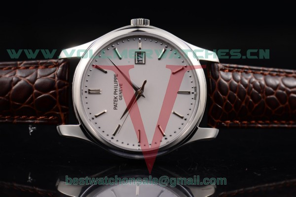 Patek Philippe Calatrava Japanese Quartz White Dial with Steel Case 5227 G