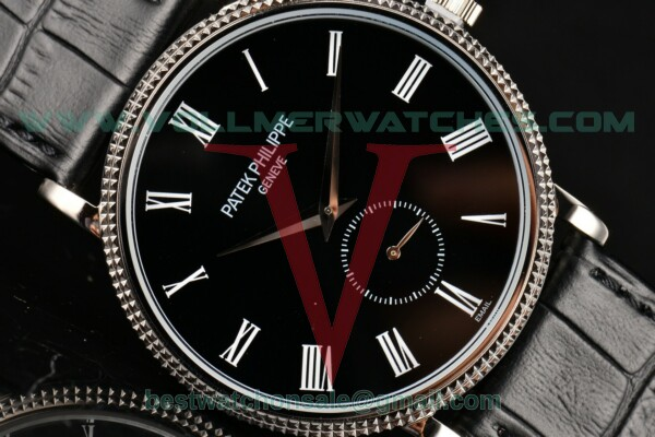 Patek Philippe Calatrava Miyota Quartz Black Dial With Steel Case 5119G-002