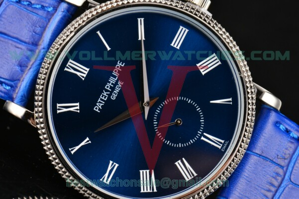 Patek Philippe Calatrava Miyota Quartz Blue Dial With Steel Case 5119G-003