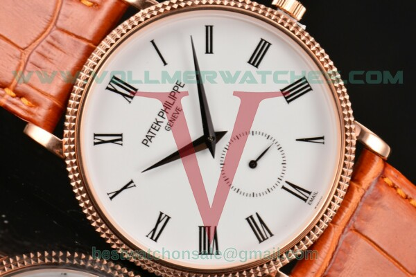 Patek Philippe Calatrava Miyota Quartz White Dial With Rose Gold Case 5116R-001