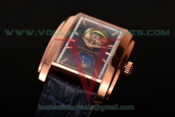 Patek Philippe Gondolo Asia Manual Winding Blue Dial With Rose Gold Case 5123G-003