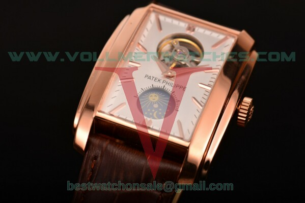 Patek Philippe Gondolo Asia Manual Winding Silver Dial With Rose Gold Case 5123G-004