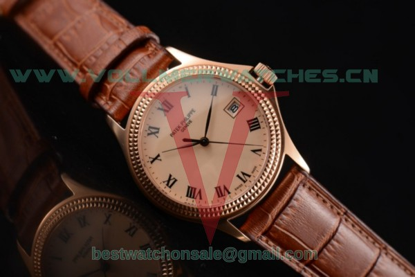 Patek Philippe Calatrava Miyota 9015 Auto Rose Gold Dial With Rose Gold Case 5120G-001-GG