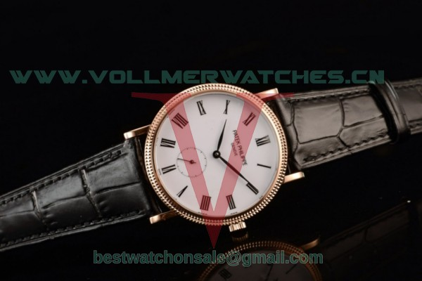 Patek Philippe Calatrava 9015 Auto White Dial With Rose Gold Case 5117R-001B