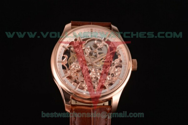 Patek Philippe Complicated Skeleton Automatic Skeleton Dial with Rose Gold Case - 51843-1G-001 (GF)