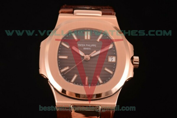 Patek Philippe Nautilus 3120 Auto White Dial with Rose Gold Case 5711/4A - (BP)