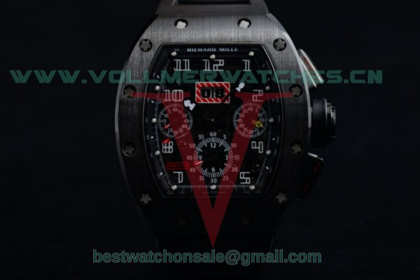 Richard Mille RM 011 Felipe Massa Chrono 7750 Auto Skeleton Dial with PVD Case RM 011