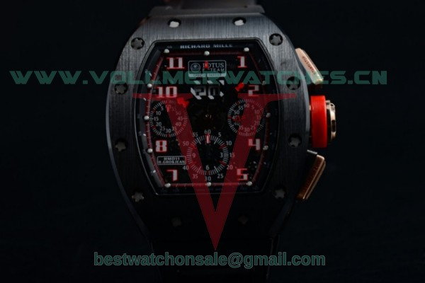 Richard Mille RM 011 Felipe Massa Chrono 7750 Auto Skeleton Dial with PVD/Rose Gold Case RM 011