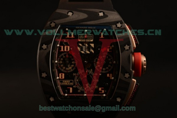 Richard Mille RM 011 Romain Grosjean Chrono 9015 Auto Black Dial with Carbon Fiber Case RM 011 (KV)