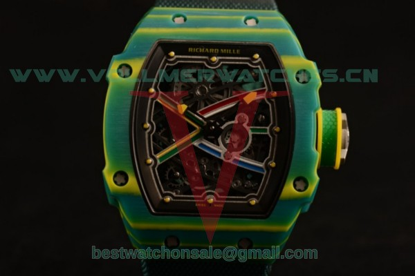 Richard Mille RM 67-02 9015 Auto Green Nylon Strap with PVD Case RM 67-02