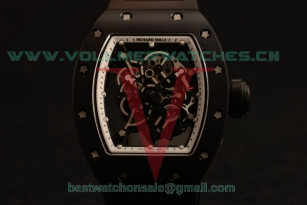 Richard Mille RM 055 Bubba Watson 9015 Auto Black Dial with Ceramic Case RM 055