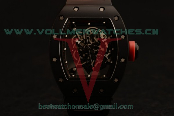 Richard Mille RM 055 Bubba Watson 9015 Auto Black Dial Black Rubber Strap with Ceramic Case RM 055