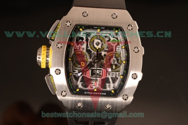 Richard Mille RM11-03 Swiss Valjoux 7750 Auto Black Rubber Strap With Steel Case RM11-03 (KV)
