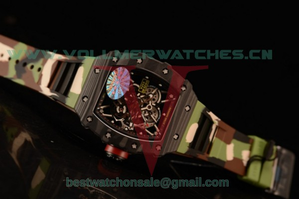 1:1 Richard Mille RM35-01 Japanese Miyota 9015 Auto Skeleton Dial With Carbon Fiber Case RM35-01(KV)