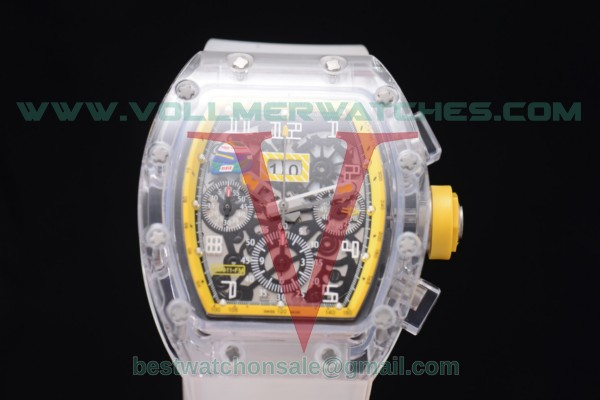 Richard Mille RM 011 Felipe Massa Flyback Chrono 7750 Auto Skeleton Dial Yellow Inner Bezel with Sapphire Crystal Case RM 011