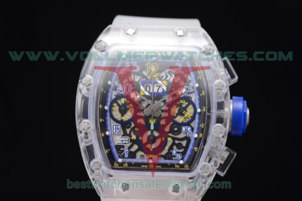 Richard Mille RM 011 Felipe Massa Chrono 7750 Auto Skeleton Dial Blue Inner Bezel with Sapphire Crystal Case RM 011
