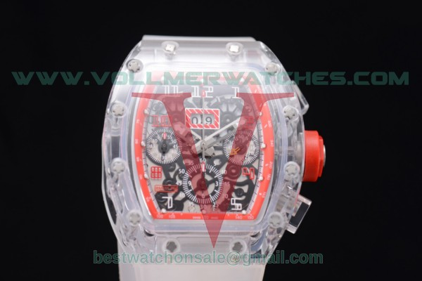 Richard Mille RM 011 Felipe Massa Flyback Chrono 7750 Auto Skeleton Dial Red Inner Bezel with Sapphire Crystal Case RM 011