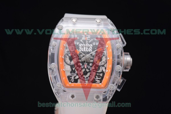 Richard Mille RM 011 Felipe Massa Flyback Chrono 7750 Auto Skeleton Dial Orange Inner Bezel with Sapphire Crystal Case RM 011