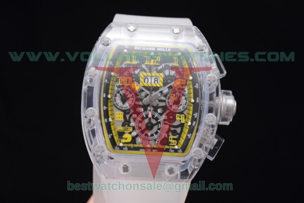 Richard Mille RM 011 Felipe Massa Flyback Chrono 7750 Auto Skeleton Dial with Sapphire Crystal Case Yellow Markers RM 011