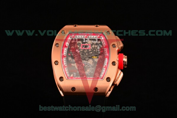 Richard Mille RM005 FM Auto Skeleton Dial with Rose Gold Case