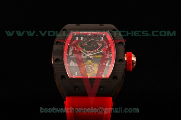 Richard Mille RM 036 Seagull SH Auto Skeleton Dial with Carbon Fiber Case
