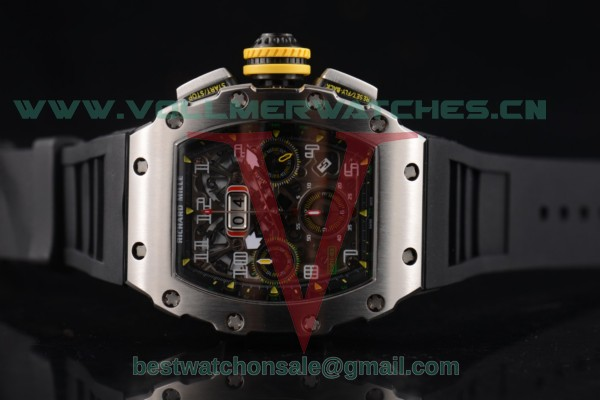 Richard Mille RM 011 Felipe Massa Flyback 7750 Auto Skeleton Dial with Steel Case RM 011