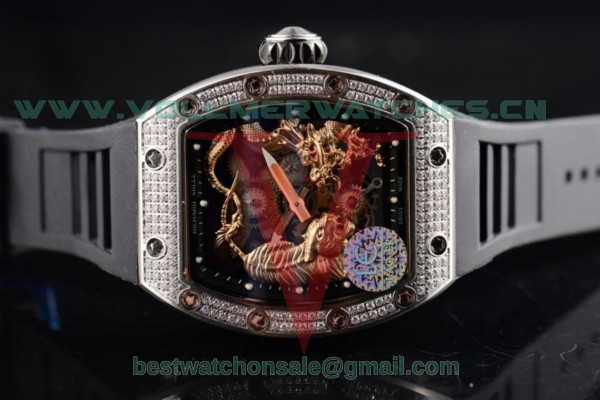 Richard Mille RM 51-01 Tourbillon Tiger and Dragon Asia Manual Winding Skeleton Dial with Steel Case