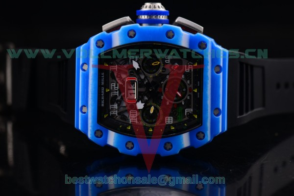 Richard Mille RM 11-03 JEAN TODT 7750 Auto Black Rubber Skeleton Dial with PVD Case RM 11-03