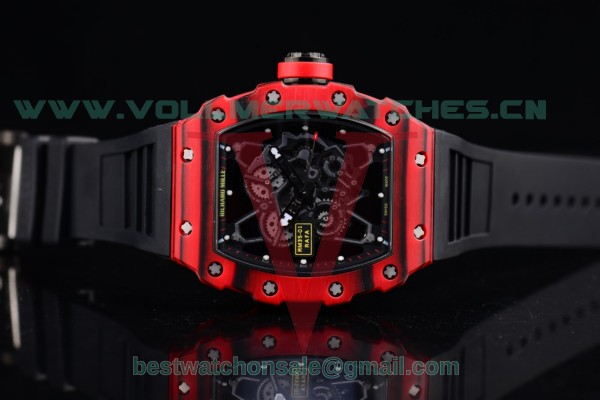Richard Mille RM 35-01 RAFA Miyota 9015 Auto Black Rubber Skeleton Dial with PVD Case RM 35-01
