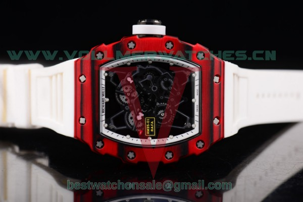 Richard Mille RM 35-01 RAFA Miyota 9015 Auto White Rubber Strap Skeleton Dial with PVD Case RM 35-01