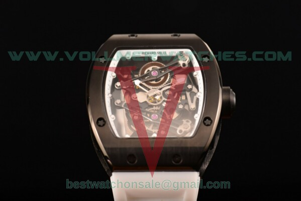 Richard Mille RM 038 Miyota Quartz Skeleton Dial with PVD Case