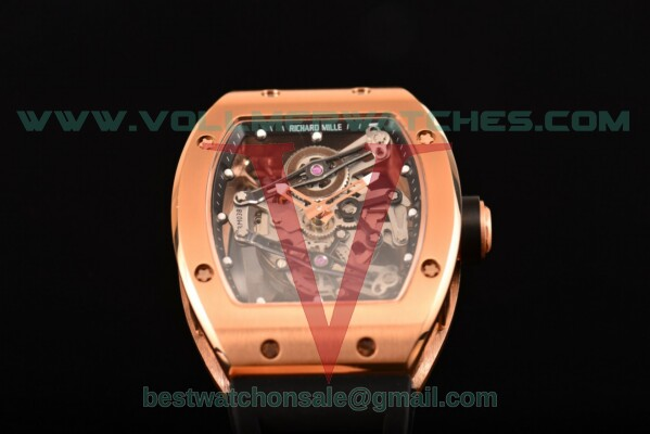 Richard Mille RM 038 Miyota Quartz Skeleton Dial with Rose Gold Case