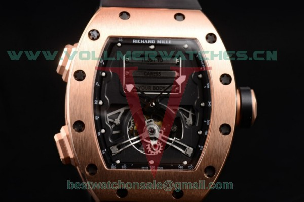 Richard Mille RM 69 Erotic Tourbillon 9015 Auto Skeleton Dial with Rose Gold Case RM 69