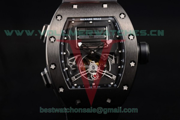 Richard Mille RM 69 Erotic Tourbillon 9015 Auto Skeleton Dial with PVD Case RM 69