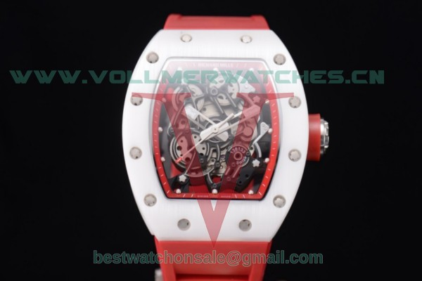 Richard Mille RM 055 Miyota 9015 Auto Skeleton Dial With Steel Case White Ceramic Bezel