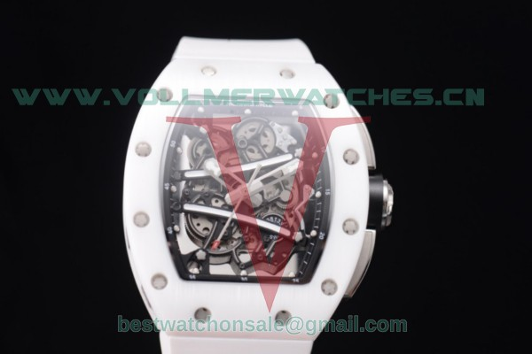 Richard Mille RM 038 Miyota 9015 Auto Skeleton Dial White Ceramic Bezel With Steel Case