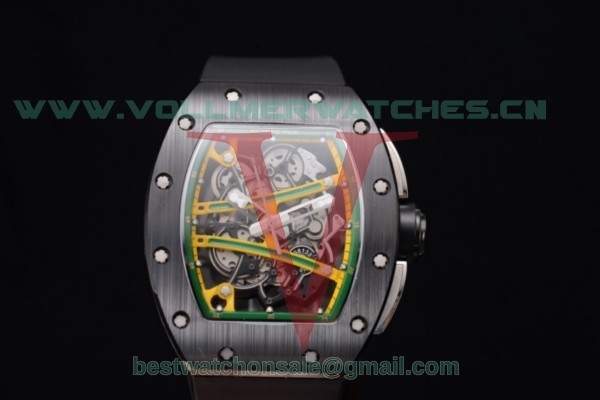 Richard Mille RM 038 Miyota 9015 Auto Skeleton Dial With PVD Case Black Rubber