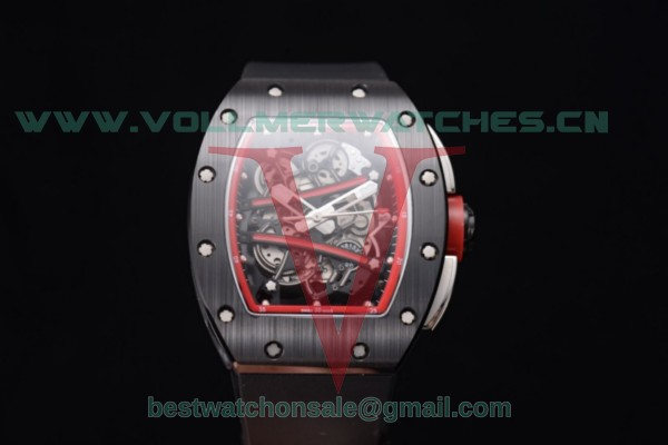 Richard Mille RM 038 Miyota 9015 Auto Skeleton Dial With PVD Case Red Inner Bezel