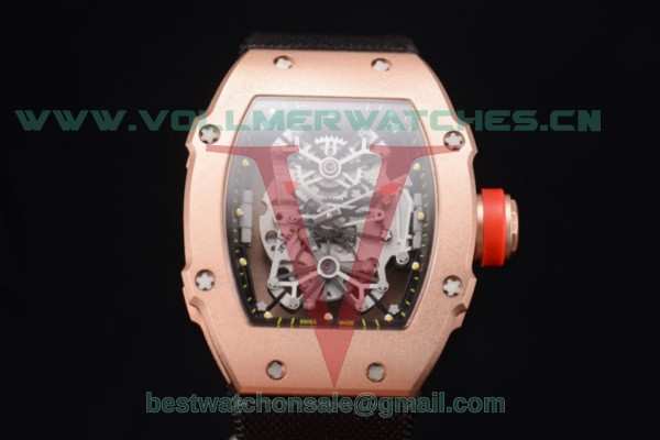 Richard Mille RM 27-01 Tourbillon Rafael Nadal Miyota 9015 Auto Skeleton Dial With Rose Gold Case